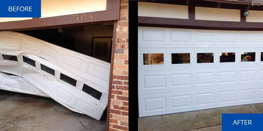 garage door before and after Garage Door Denver Services